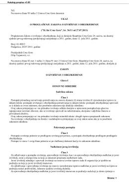 zakon o izvrsenju i obezbjedjenju
