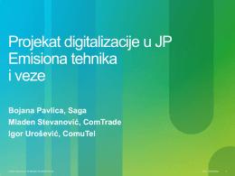 Projekat digitalizacije u JP Emisiona tehnika i veze