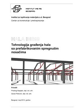 Tehnologija građenja hala sa prefabrikovanim