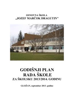 godišnji plan rada škole 2013-2014