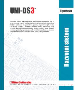 Uputstvo za UNI-DS3 Razvojni sistem