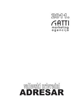 Valjevski privredni ADRESAR 2011