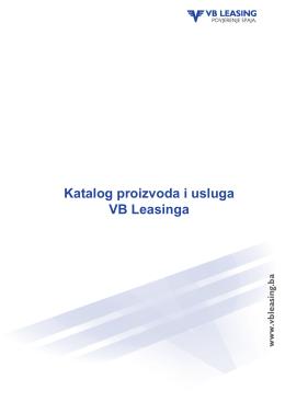 Katalog proizvoda i usluga VB Leasinga