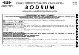 Bodrum Cenovnik 5 2015