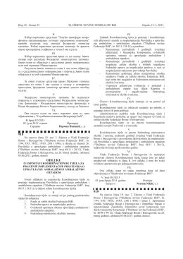 Službenim novinama FBiH br. 45/13