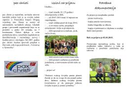 pax christi Uslovi za prijavu Potrebna dokumentacija