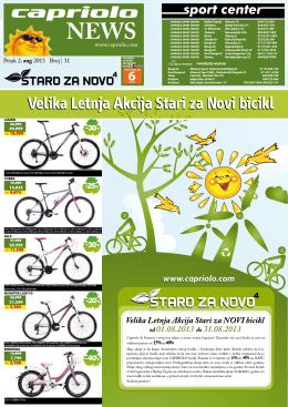 Velika Letnja Akcija Stari za Novi bicikl