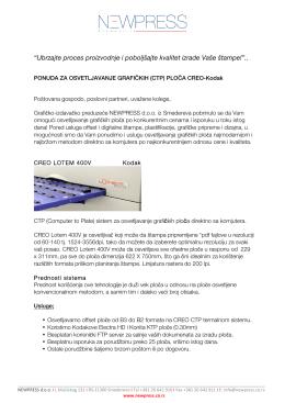 Ponuda za CTP Creo Lotem new