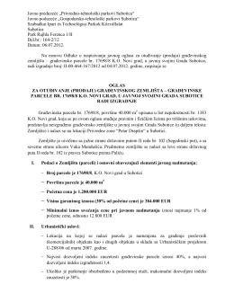 """Javno poduzeće """"Gospodarsko-tehnološki parkovi Subotica"""""""