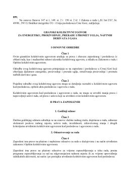 Granski kolektivni ugovor za energetiku proizvodnju