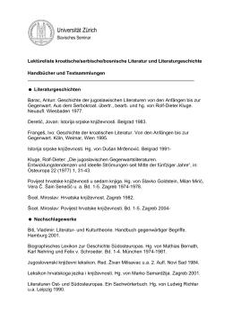 Universität Zürich - Slavisches Seminar