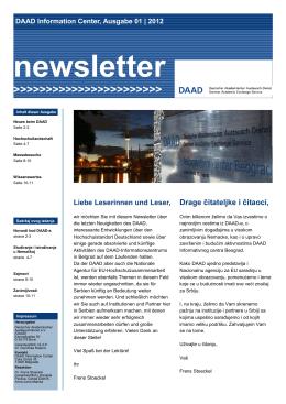 newsletter - DAAD Informativni Centar Beograd