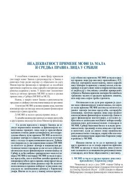 НеадекватНост примеНе мсФи за мала и средња правНа лица у