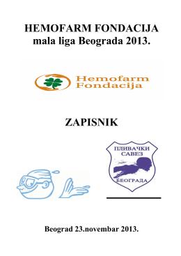 Hemofarm mala liga Beograda 2013