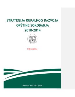 Стратегија руралног развоја општине Сокобања 2010-2014