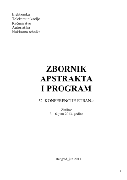 OVDE - etran - Elektrotehnički fakultet
