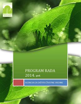Nacrt godisnjeg programa rada Agencije 2014