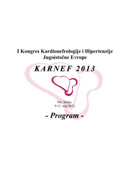 Programme - KARNEF 2013 - 1st Southeastern Europe