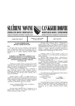 vlada federacije bosne i hercegovine 272 odluku