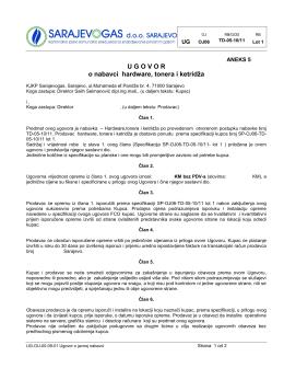 TD 05 10-11 Ugovor HW - Aneks 5