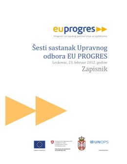 Šesti sastanak Upravnog odbora EU PROGRES
