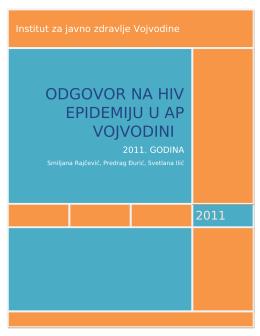 hiv infekcije u ap vojvodini – 2011. godina