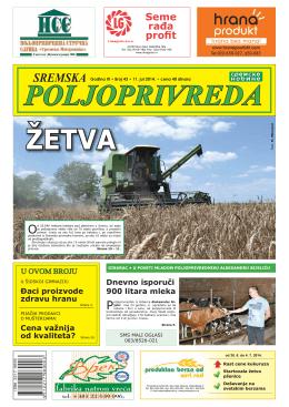 Sremska poljoprivreda broj 43 11. jul 2014.
