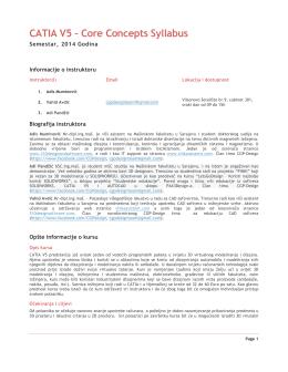 CATIA V5 – Core Concepts Syllabus