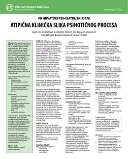 atipicna klinicka slika psihoticnog procesa