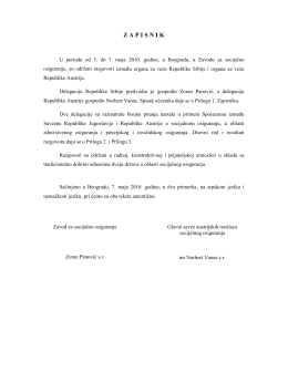 ZAPISNIK - Zavod za socijalno osiguranje