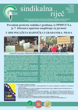 Povodom protesta radnika i građana, iz PPDIVUT