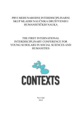 Prvi međunarodni interdisciPlinarni skuP mladih naučnika