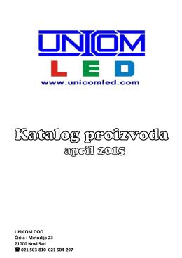 Katalog proizvoda - UNICOM LED rasveta