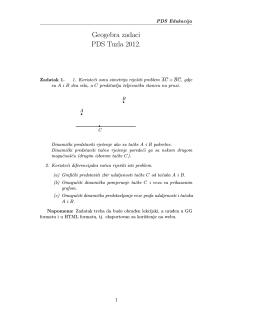 Geogebra zadaci PDS Tuzla 2012.