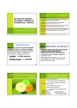 """Prezentacija projekta """"Medicinski sindrom i"""