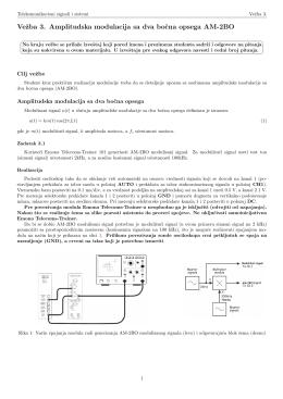 Vezba 3. Amplitudska modulacija sa dva bocna opsega AM