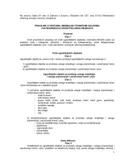 Pravilnik o vrstama minimalno tehničkim uslovima i