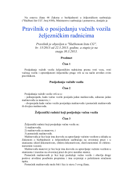 "Pravilnik je objavljen u ""Službenom listu CG"", br. 15"