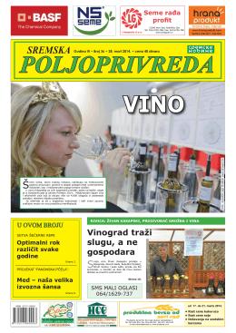 Sremska poljoprivreda broj 36 28. mart 2014.