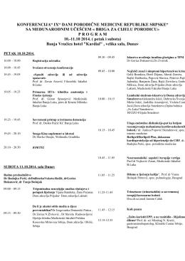 """konferencija"""" ix"""" dani porodične medicine republike srpske"""" sa"""
