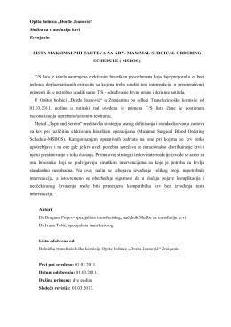 pdf - Opšta bolnica Đorđe Joanović Zrenjanin