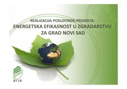 Prezentacija i opis GESG projekta
