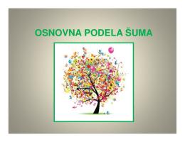 Osnovna podela šume - pdf - ekološko šumarski centar sylva