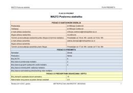 MA272 Poslovna statistika