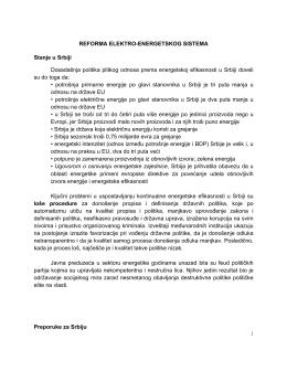 1 REFORMA ELEKTRO-ENERGETSKOG SISTEMA