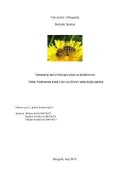 Medonosna pčela (Apis mellifera)