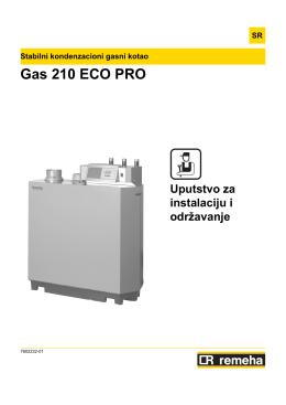 Gas 210 Eco Pro - Uputstvo za instalaciju