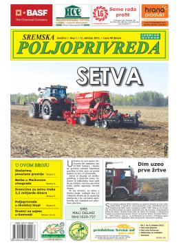 Sremska poljoprivreda broj 1 12. oktobar 2012.