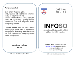 INFOSO - Opština Milići