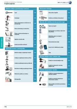 Uređaji za kontrolu i merenje Pregled poglavlja